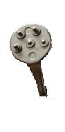 Pfannenschlüssel zum Öffnen des Geminybeschlages