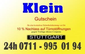 Schlüsseldienst Gutschein-vom Schlüsseldienst Stuttgart