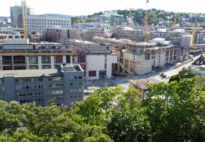 Blick auf Stuttgart 21 Baustelle Stuttgart-Mitte