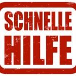 Grunge Stempel rot SCHNELLE HILFE