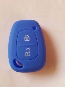 Autoschlüssel-Farbhülle-blau